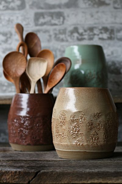 Rustic Old World Utensil Holder