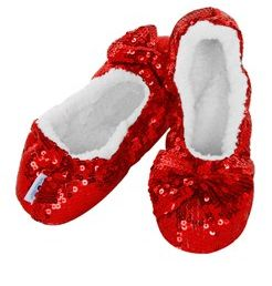 snoozies - Red Sparkle. Be Dorothy in your own Ruby Slippers.