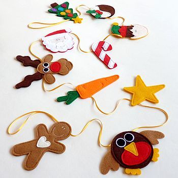 Handmade Felt Christmas Garland Decoration