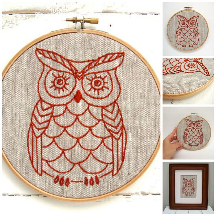 DIY embroidery hoop art kit! Stitch your way to bliss with this owl embroidery kit. A fresh design combined with quality materials and easy-to-follow instructions make this a delightful experience for