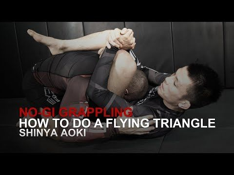 https://www.youtube.com/watch?v=vVmxg6nGApE In this video, ONE Superstar Shinya Aoki from the EVOLVE Fight Team demonstrates how to do a flying triangle. Evolve University is the largest world championship online university for martial arts. With World Champions in Muay Thai, Brazilian... Jitseasy
