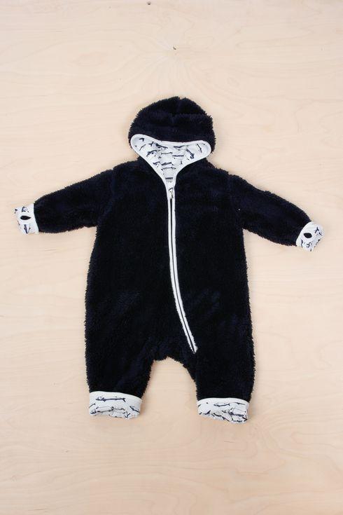 EM Ulven Fleece Suit Navy - emma och malena
