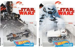 Carded Images Of Hot Wheels IG-88 And Wampa Character Cars Star Wars Collection