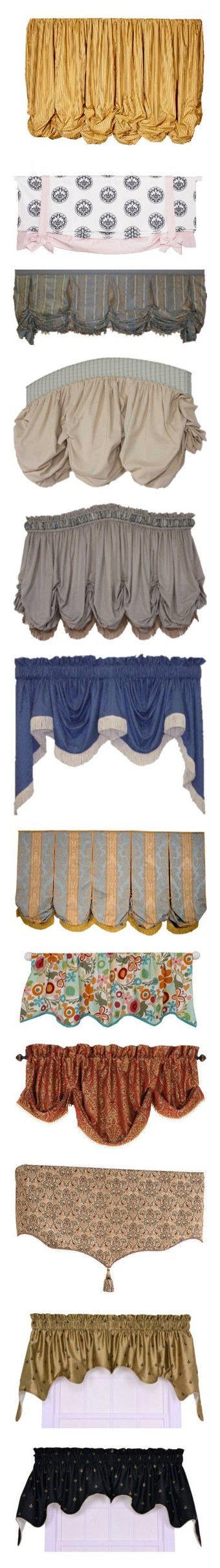 """""""Valances - 1"""" by lynnspinterest ❤ liked on Polyvore featuring home, home decor, window treatments, curtains, windows, drapes, valance, balloon window treatments, balloon curtains and window drapery"""