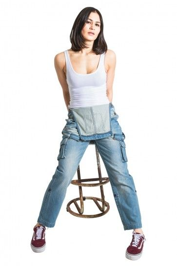 eed9cd87b38 USKEES Denim Bib Overalls - Aged Blue Denim Dungarees for Women. Bib-down or