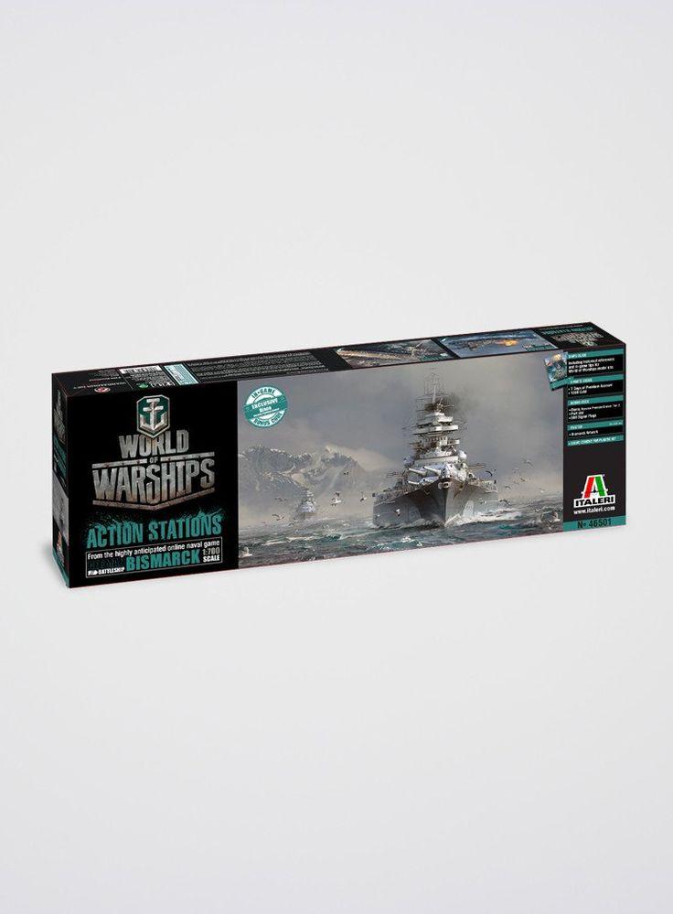 World of Warships Bismarck Modellbausatz (1:700)
