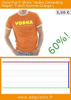 "Coole-Fun-T-Shirts ""Vodka Connecting People"" T-shirt Homme Orange L (Sports Apparel). Réduction de 60%! Prix actuel 5,96 €, l'ancien prix était de 14,89 €. https://www.adquisitio.fr/coole-fun-t-shirts/vodka-connecting-people-t-9"