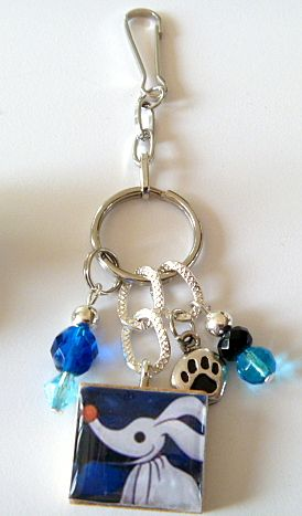 Zero From Nightmare Before Christmas Purse / Backpack Charm | Crystalbeadeddesigns - Bags  Purses on ArtFire