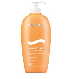 Biotherm | Apricot Oil Therapy - Baume Corps for dry skin. It is completely amazing. Unfortunately not available in India