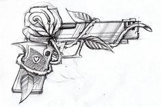 Gun and rose by *SteveGolliotVillers on deviantART