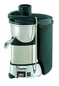 Miracle Junior Pro MJ50 (Santos 50) Commercial Centrifugal Juice Extractor by Miracle Exclusives Asynchronous 1 HP motor, powerful 3300 RPM; 100-120 V - 50/60 Hz; 7.3 AMPS; 800 Watts Produces up to 1 quart of juice per minute; up to 25 gallons per hour The patented Ezy-clean system makes clean up a breeze. All removable parts.
