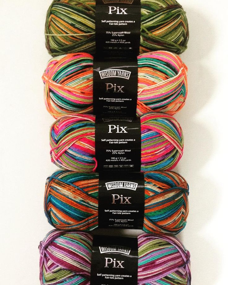A new colorful yarn has popped into Nordic Mart! Pix sock yarn is colorful…