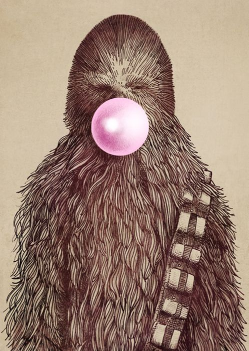 star wars geek dads and men will love this pop art print CHEWIE by Eric Fan