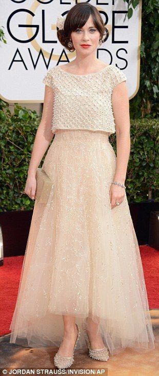 Zoe Deschanel at the 2014 Golden Globes