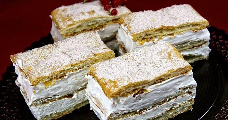 Milhojas de merengue expres Con Thermomix.merengue thermomix, pasteles milhojas de merengue thermomix,
