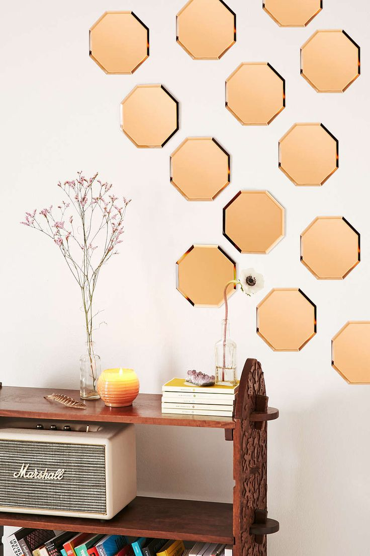 Amber Octagon Mirror - Urban Outfitters