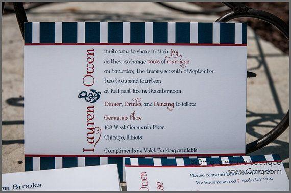 Ahoy Nautical Wedding Invitation Set  SAMPLE SET  Bronze by r3mg, $4.00