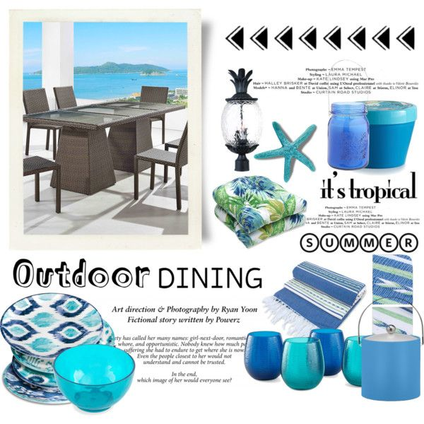 Tropical Outdoor Dining Outfit Idea 2017