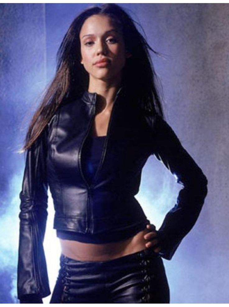 $215-MEGA SALE on Movie and custom black leather slim-fit jacket for women by Jessica Alba Dark Angel. Premium UK onine fashion store. Limited stocks. Amazing prices and custom models leather jackets available.