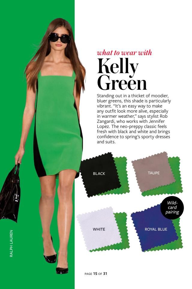 2014: Spring/Summer: Color Charts from InStyle Magazine #whattowearwith