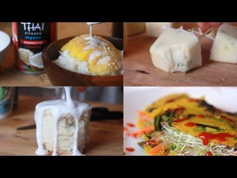5 Ways to Get Creative with Coconut Milk - YouTube - Brothers Green Eats - Including Coconut Curry Noodles @ 4min.