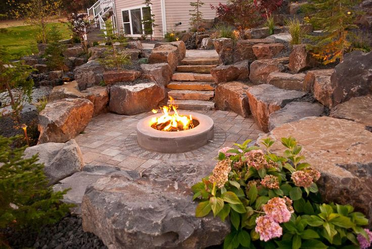 Outdoor Feuerstelle Spokane & Coeur D'alene Backyard Fire Pit Design