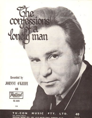 JOHNNY-OKEEFE-The-Confessions-Of-A-Lonely-Man-1968-Australian-issue-Sheet-Music