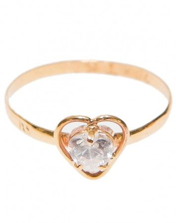 Popetto Fine Heart Pinky Ring