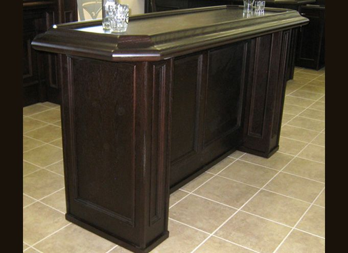 OAK BAR TABLE   Use As Bar Plus Pub Table! See Thebarstore.ca For