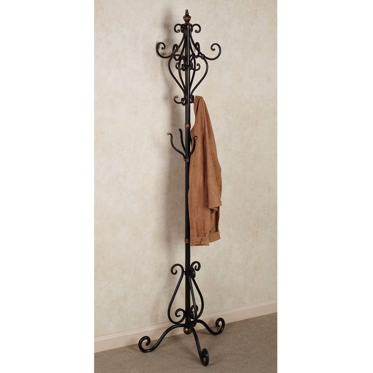 Selena Coat Rack Stand Dark Bronze