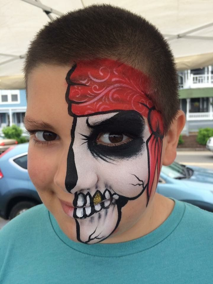 "Pirate face paint! By ""Z"" Face & Body Art"