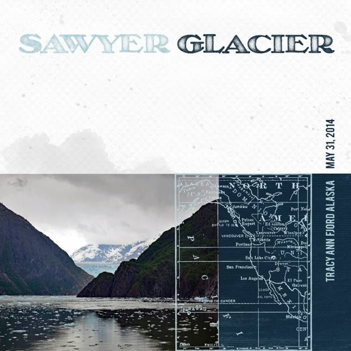 """Such an interesting challenge for iTunes this month! I used a photo we took of the Sawyer Glacier on the scenic Tracy Arm Fjord during our Alaskan Cruise during May 2014. <br /><br /><br />Supplies used:<br /> Artsy Shores Color Wash Papers ** coming soon **<br /> <span style=""""text-decoration:underline""""><span style=""""font-weight:bold""""><a rel=""""nofollow"""" href=""""http:&#x2F..."""