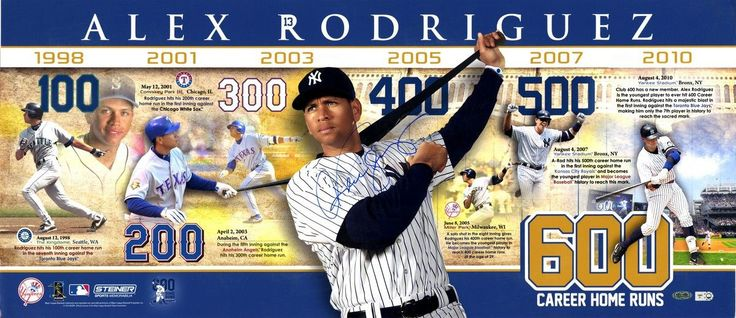 Alex Rodriguez Career Home Runs 14x32 Photo Collage (MLB Auth)
