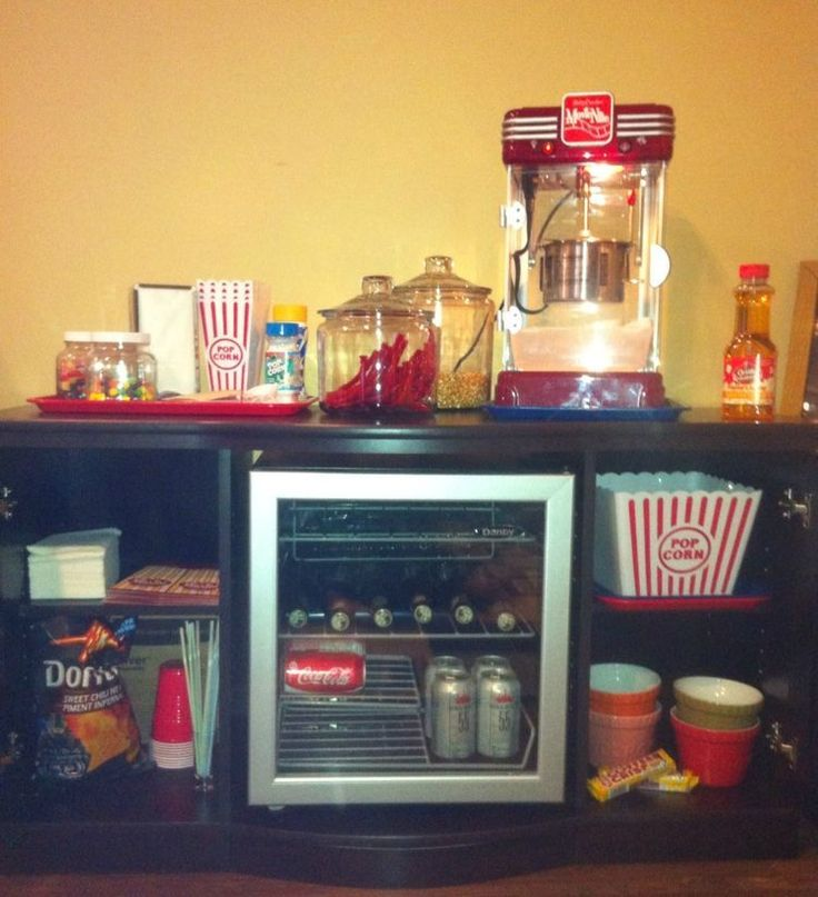 Theater Room Snack Bar: 8 Best Images About Movie Night: Snack Bar Ideas For Home