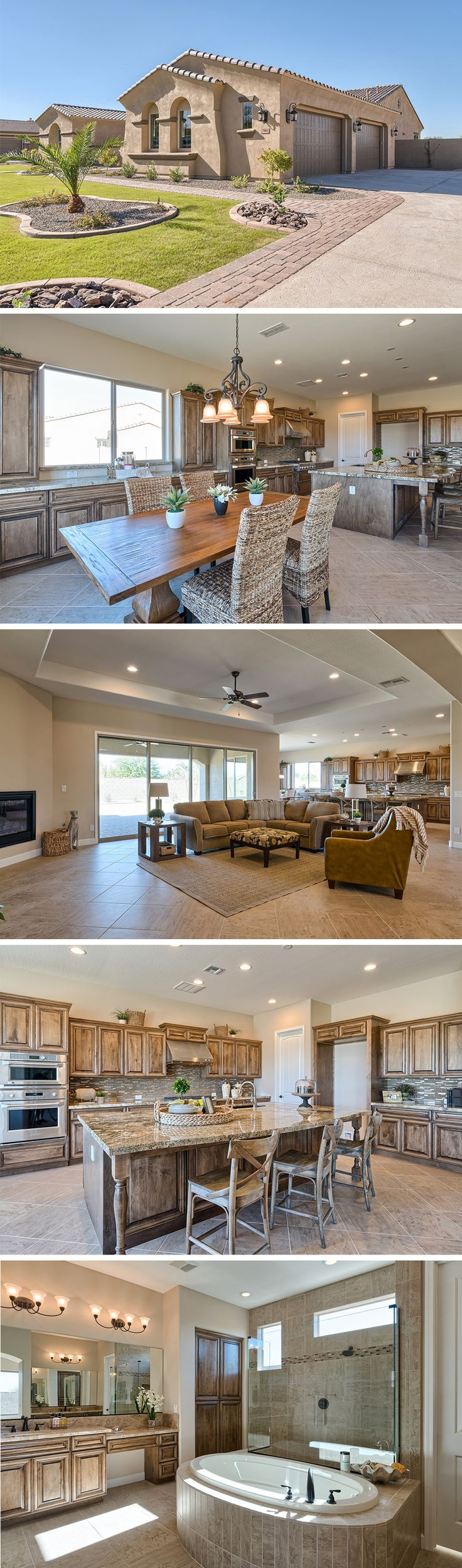 Spectacular Southwest Style Home Situated On A 1 2 Acre Lot In The Gated Gilbert