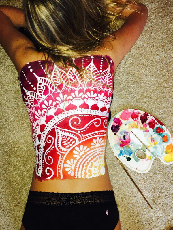 Best 25 body paint art ideas on pinterest for Back painting ideas easy
