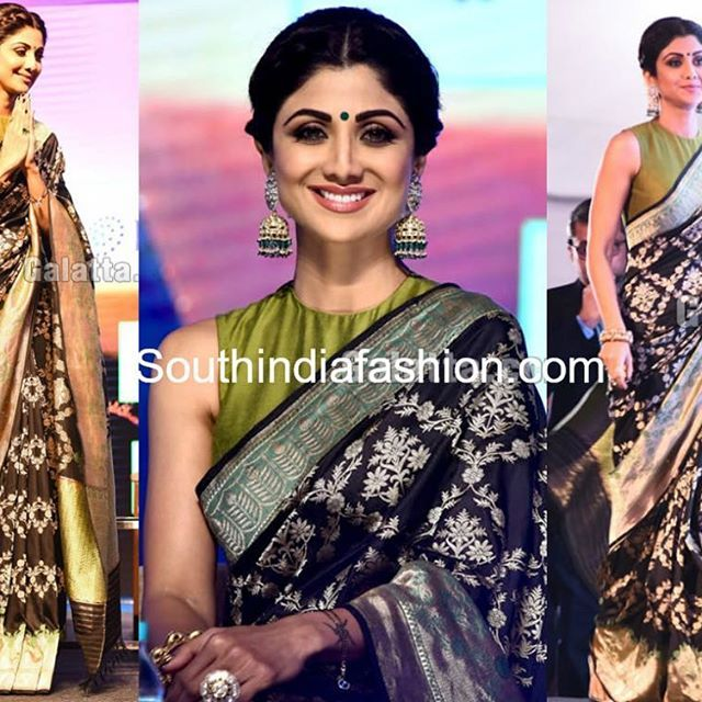 Pranitha Subhash was recently snapped in a half white, pink and gold kanjeevaram saree paired up with a pink short sleeves kasu work blouse. Bold jhumki earrings, subtle make-up and straight hair-do rounded out her look. She nailed the traditional look!
