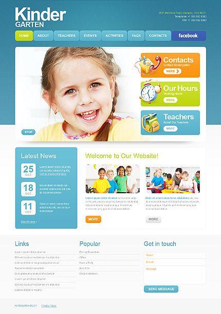 Template 35836 - Kinder Children Website Template