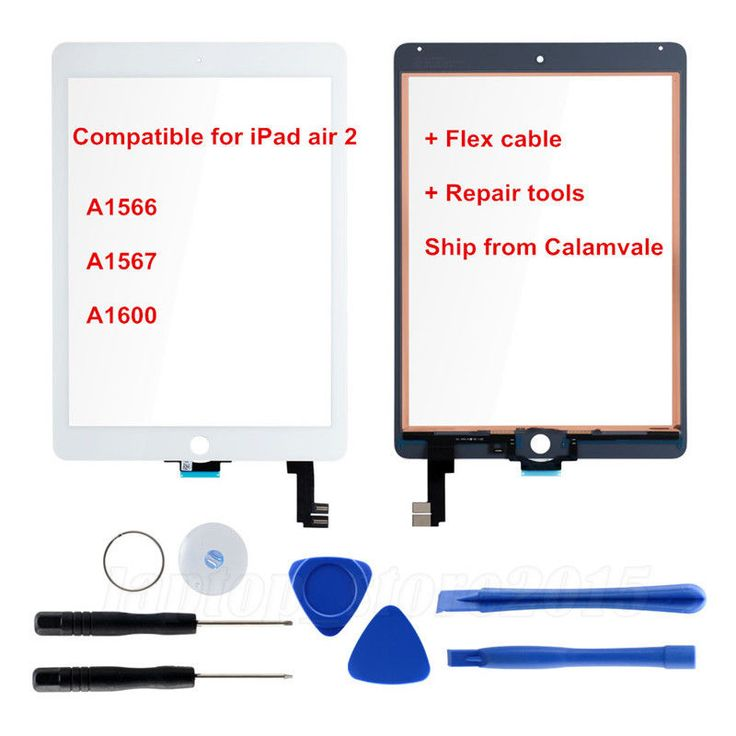 For Ipad Air 2 Ipad 6 Front Screen Glass Replacement  with 7 PCS Repair Tools OZ