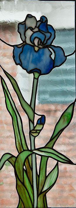 "Stained+Glass+Panel+""Single+Iris""+"