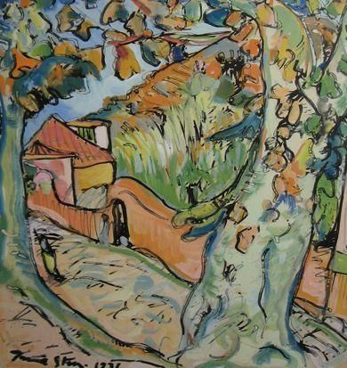 Irma Stern (South African: 1894 – 1966) | Country Road, Madeira 1931