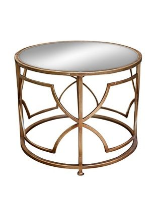 62% OFF Iron Geo Accent Table, Antique Gold