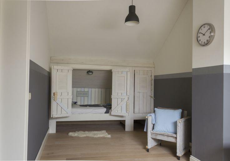 Slaapkamer Steigerhout Behang : Stoere Jongenskamer