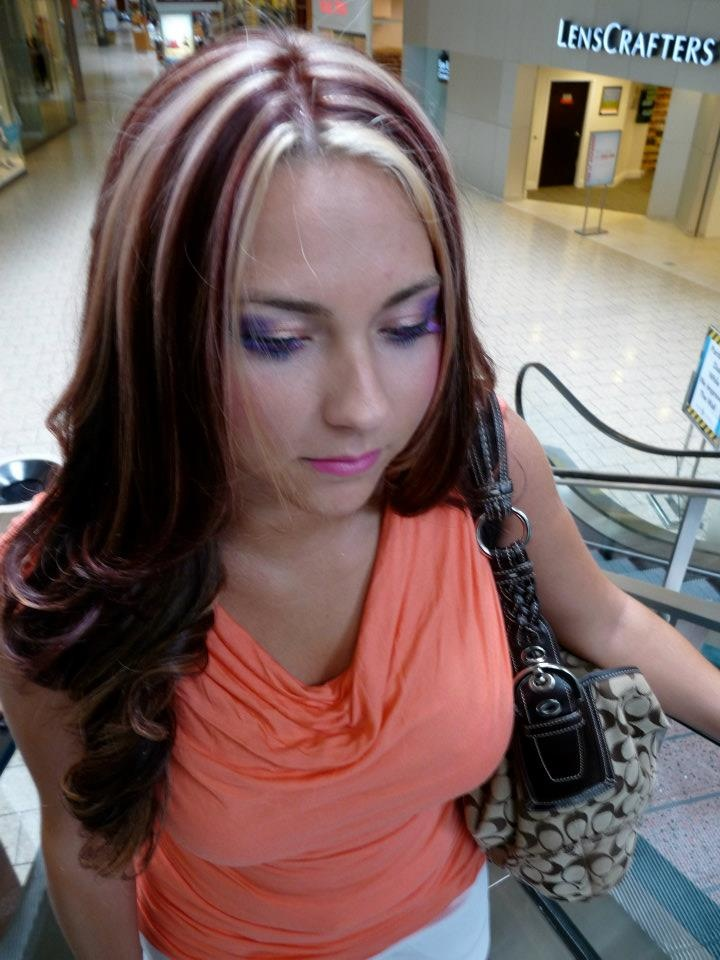Red Hair With Blonde Highlights My Work Pinterest My