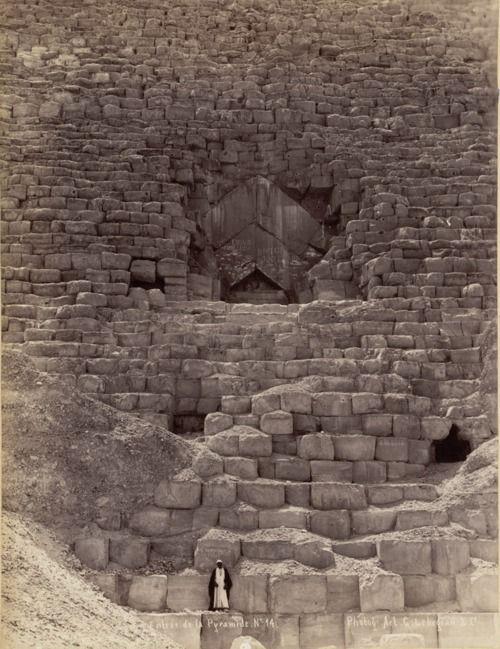 Entrance to the Great Pyramid, Giza, Egypt