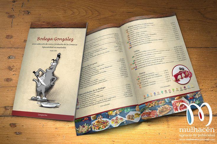 Diseño de Cartas para Restaurante Bodegas Gonzaléz