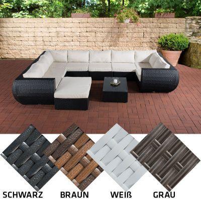 Die besten 25+ Gartengarnitur rattan Ideen auf Pinterest - loungemobel garten grau