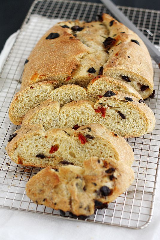 basil, olive and sun-dried tomato bread from girl versus dough