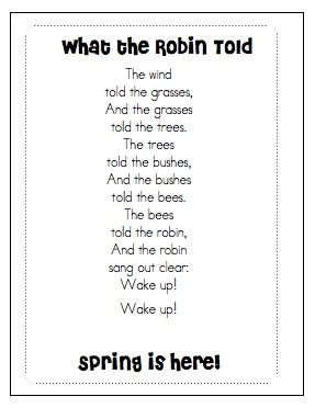 The rhythm of this poem makes it perfect for some spring fluency practice!