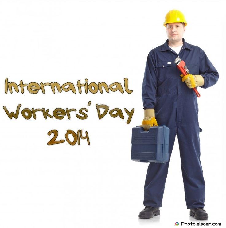 Plumbing worker. International Workers' Day 2014